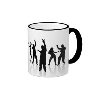 Silhouette dances ringer coffee mug