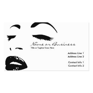 silhouette de beauté cartes de visite professionnelles