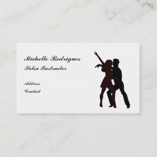 Silhouette De Carte Visite Danseurs Salsa