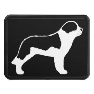 Silhouette de chien de St Bernard Couvertures Remorque D'attelage