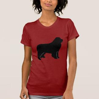 Silhouette de chien de Terre-Neuve T-shirts