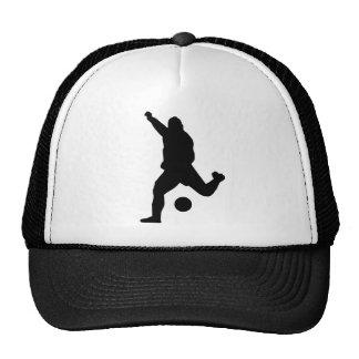 Silhouette de coup-de-pied du football casquette