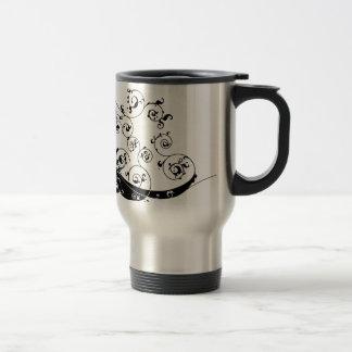 Silhouette de couples de mariage de jeunes mariés mugs à café