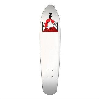 Silhouette de femme élégante sur le tapis rouge skateboard 20,6 cm