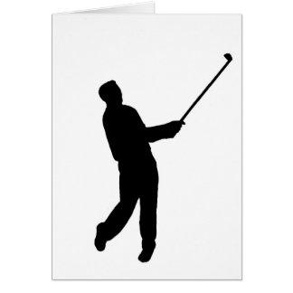 Silhouette de golfeur carte de vœux