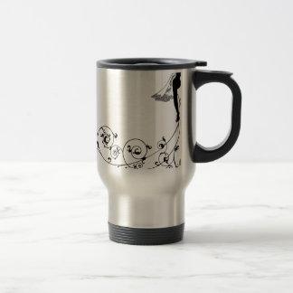 Silhouette de mode de mariage de jeune mariée mug