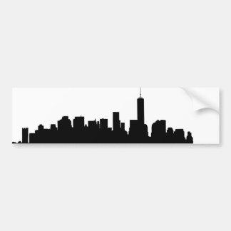 Silhouette de New York Autocollant De Voiture