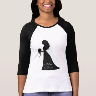 Silhouette de patron de jeune mariée t-shirts