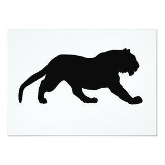 Silhouette de tigre carton d'invitation  12,7 cm x 17,78 cm