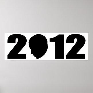 Silhouette d'Obama 2012