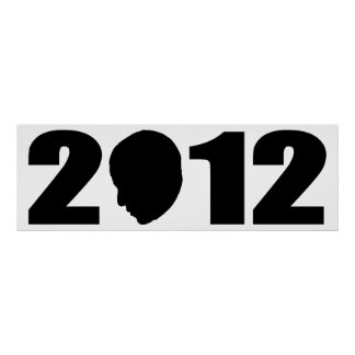 Silhouette d'Obama 2012 Poster