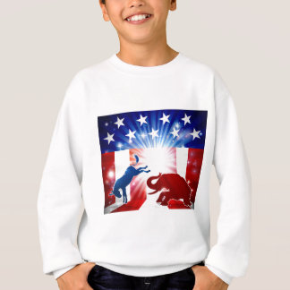 Silhouette Donkey Fighting Elephant Sweatshirt