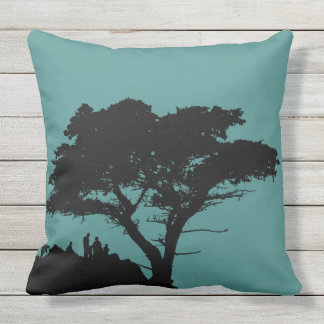 Silhouette Family by Great Tree Vintage Outdoor Pillow