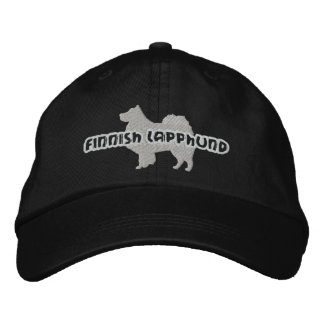 Silhouette Finnish Lapphund Embroidered Hat