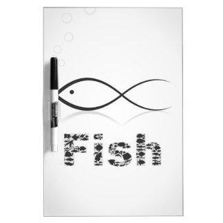 Silhouette fish2 dry erase board