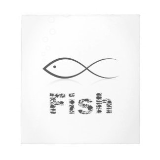 Silhouette fish2 notepad