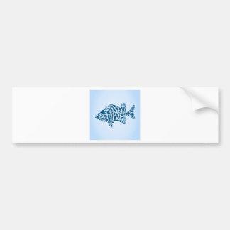 Silhouette fish bumper sticker