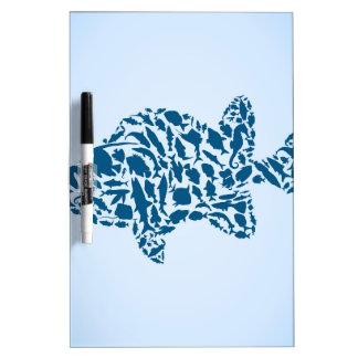 Silhouette fish Dry-Erase board