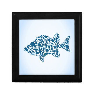 Silhouette fish jewelry box