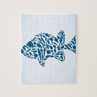 Silhouette fish jigsaw puzzle