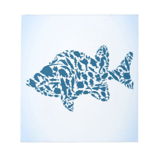 Silhouette fish notepad