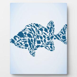 Silhouette fish plaque