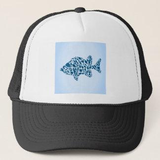 Silhouette fish trucker hat