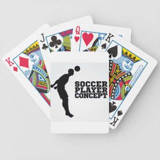Silhouette Football Player Concept Poker Deck