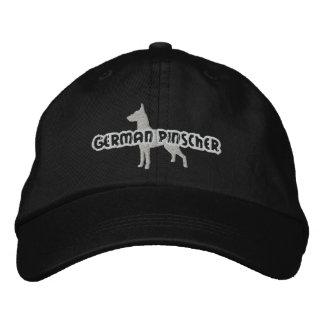 Silhouette German Pinscher Embroidered Hat