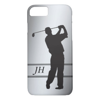 Silhouette Golfer Monogram iPhone 8/7 Case
