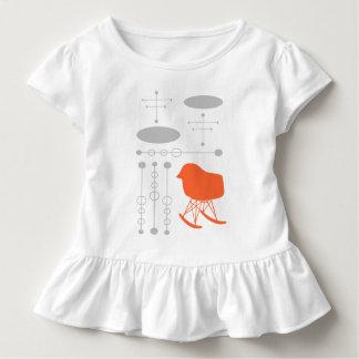 Silhouette grise de chaise de motif de la moitié tee-shirts