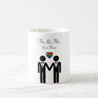 Silhouette Groom and Groom - Tall Classic White Coffee Mug