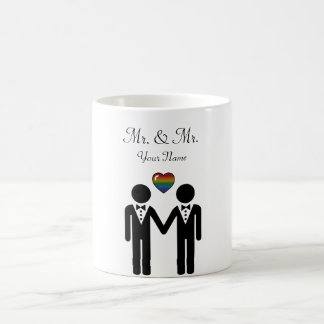 Silhouette Groom and Groom - Tall Coffee Mug