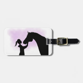 Silhouette Horse luggage tag