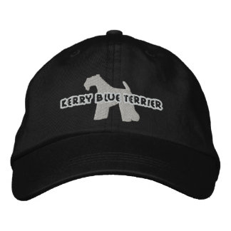 Silhouette Kerry Blue Terrier Embroidered Hat