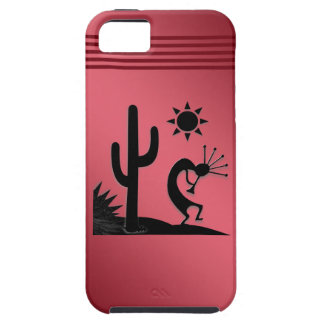 Silhouette Kokopelli on Red Case For The iPhone 5