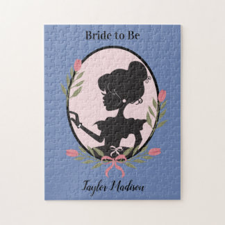 Silhouette Lady Bride to be Jigsaw Puzzle