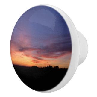 Silhouette Landscape Sunset Dresser Knob