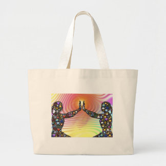 Silhouette, Life Large Tote Bag
