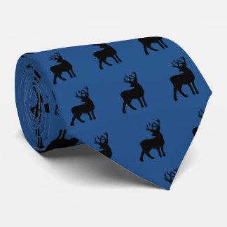 Silhouette majestueuse de cerfs communs - noir cravate