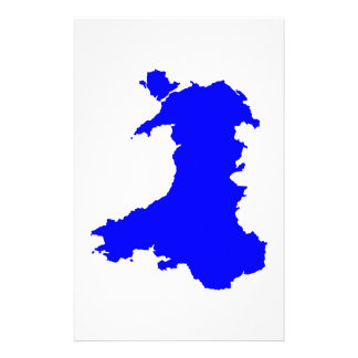 Silhouette Map Of Wales Customized Stationery