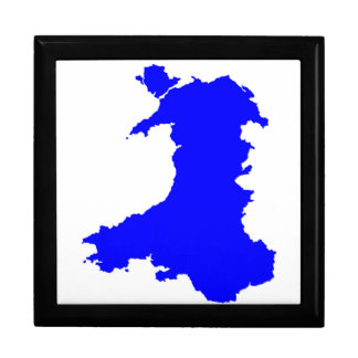 Silhouette Map Of Wales Gift Box