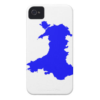 Silhouette Map Of Wales iPhone 4 Case-Mate Case