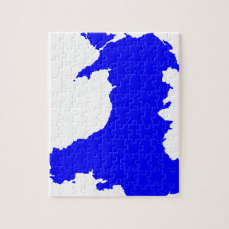 Silhouette Map Of Wales Jigsaw Puzzle
