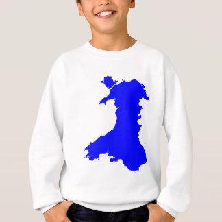 Silhouette Map Of Wales Sweatshirt