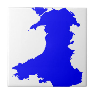 Silhouette Map Of Wales Tile