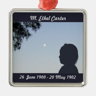 Silhouette Memorial Ornament - Baby Girl