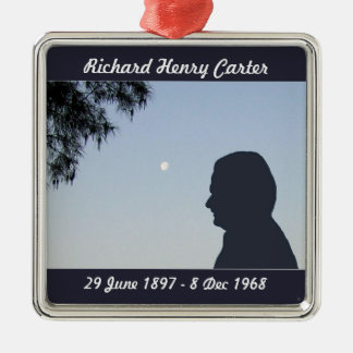 Silhouette Memorial Ornament - Older Male