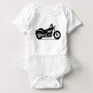 silhouette motorcycle baby bodysuit