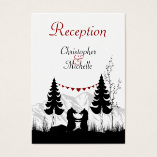 Silhouette Mountain Bears Wedding Reception Cards